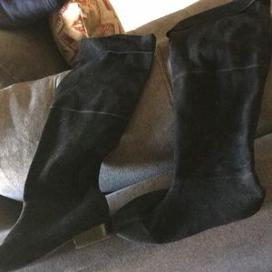 Victor boots, black suede, beautiful!!